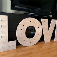 Makin' Loooooove… part 2 {DIY Marquee Letters}