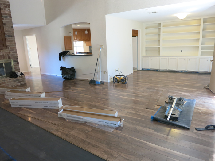 Our Finally Finished Floors!- evanandkatelyn.com