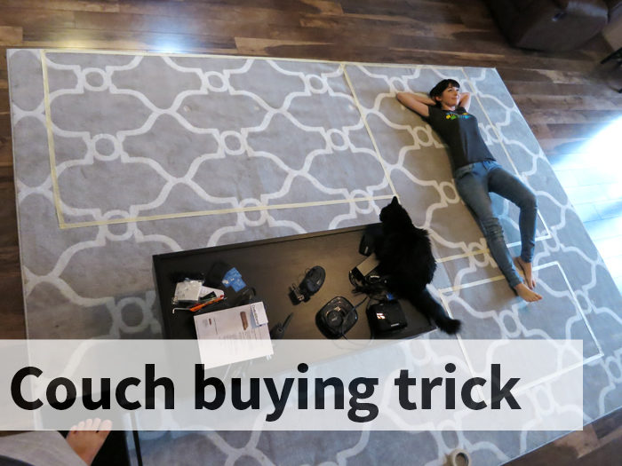 Couch buying trick evanandkatelyn.com