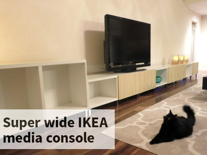 Super Wide IKEA mediai console - evanandkatelyn.com