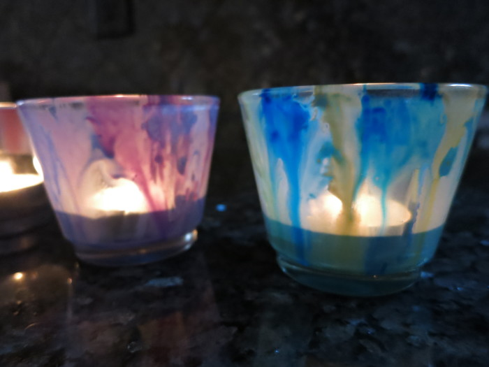 Trying Out Watercolor Votives - evanandkatelyn.com