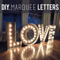 Makin' Loooooove… COMPLETE! {DIY Marquee Letters}
