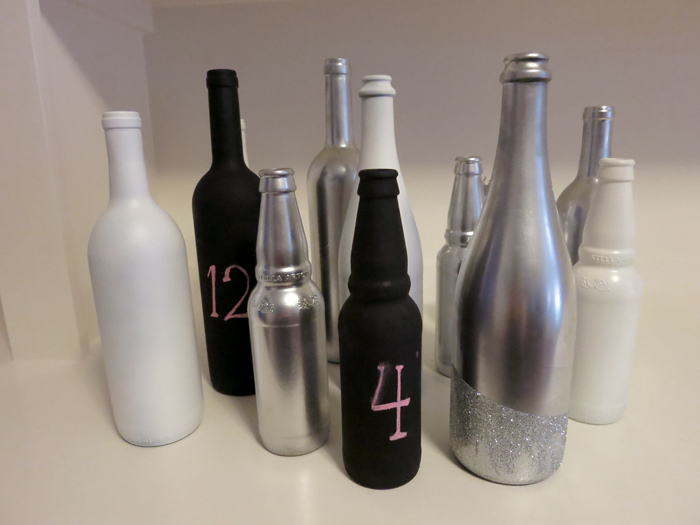types of painted bottles together to see how that would look too kind. Black Bedroom Furniture Sets. Home Design Ideas
