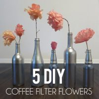 DIY Coffee Filter Flowers, 5 Ways