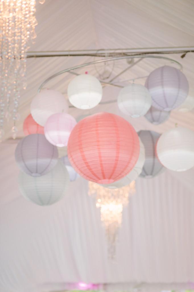 DIY Paper Lantern Chandelier- evanandkatelyn.com