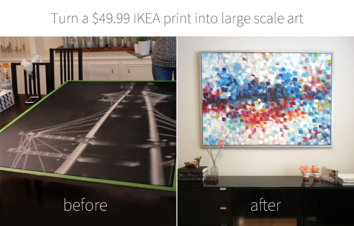 Turning an IKEA printed canvas into art! evanandkatelyn.com