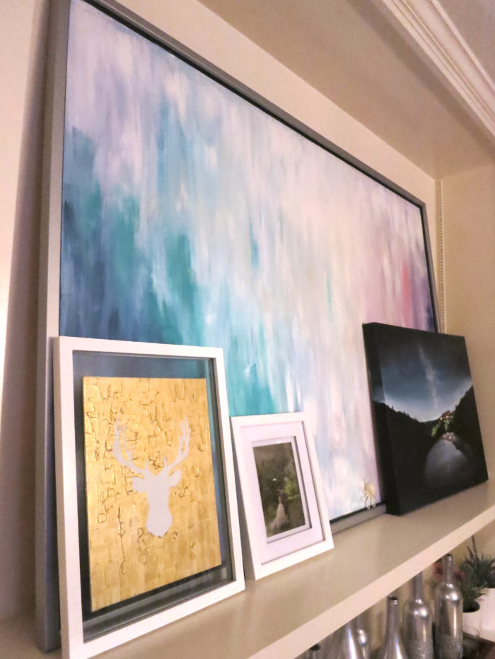 Big ass art by painting over an IKEA canvas print - evanandkatelyn.com