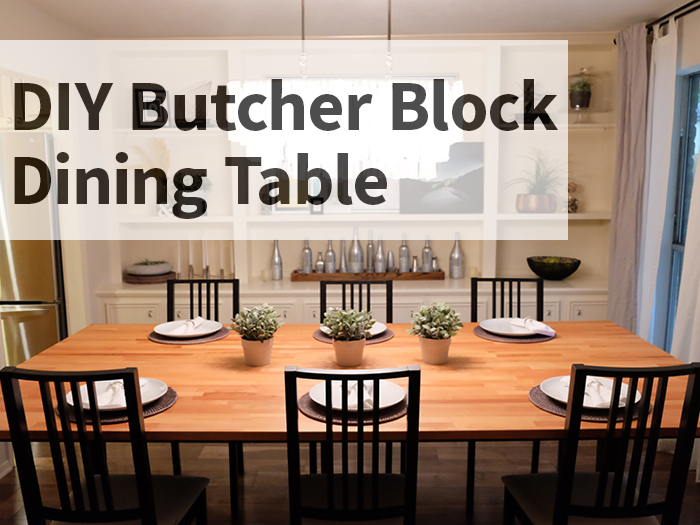 diy butcher block dining table evan katelyn home diy