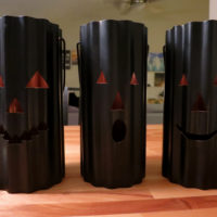 Upgrading Halloween Hurricanes with Copper Spray Paint
