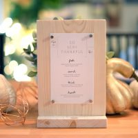 DIY Tabletop Menu + Thanksgiving Printable