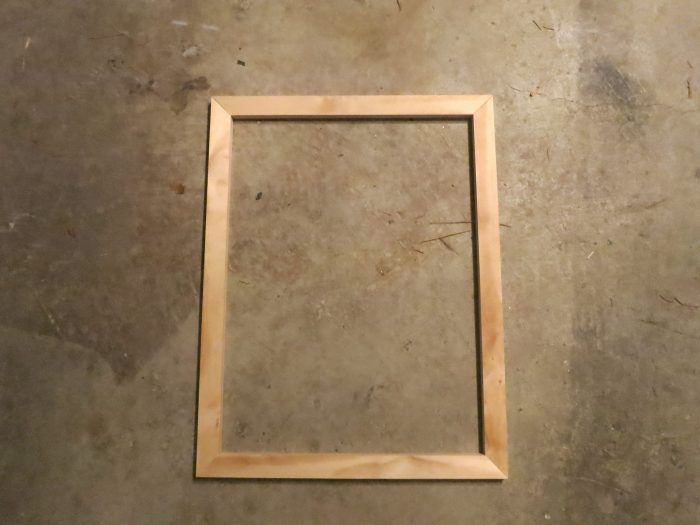 DIY wood canvas frame - evanandkatelyn.com