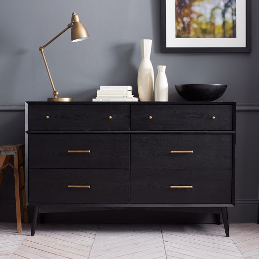 West Elm copycat IKEA hack, DIY dresser upgrade using knobs and pulls - evanandkatelyn.com