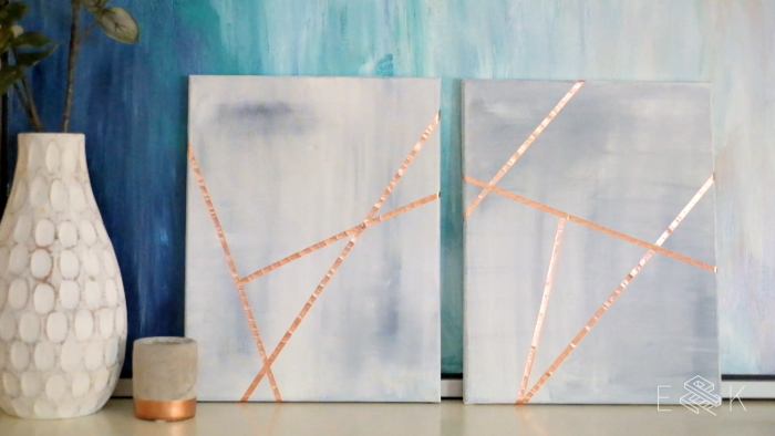 Abstract Art Painting Tutorial - evanandkatelyn.com