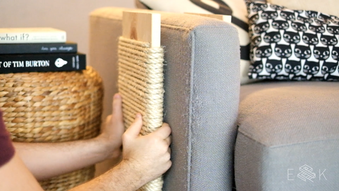 DIY Modern Cat Scratching Post - evanandkatelyn.com