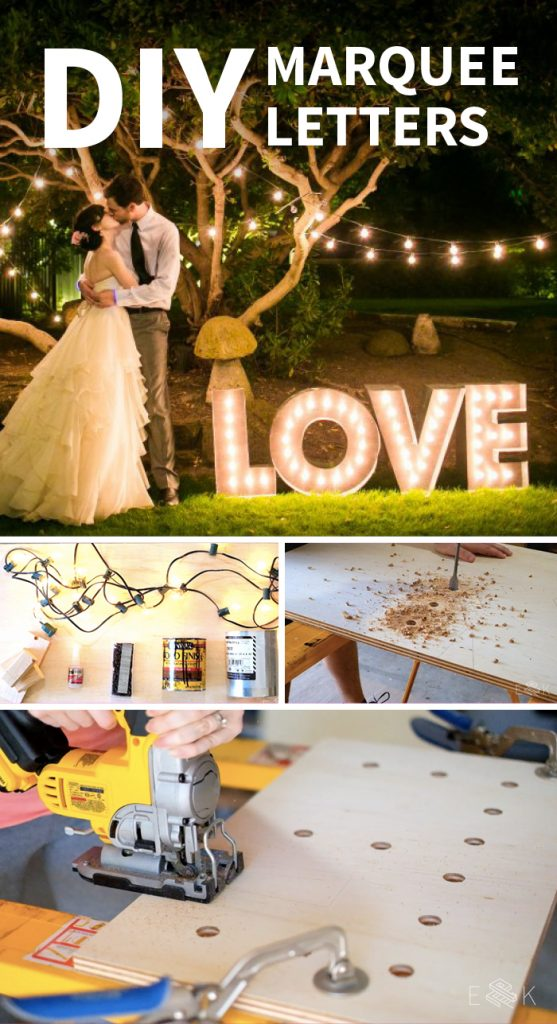 DIY Marquee Letters - Evan & Katelyn