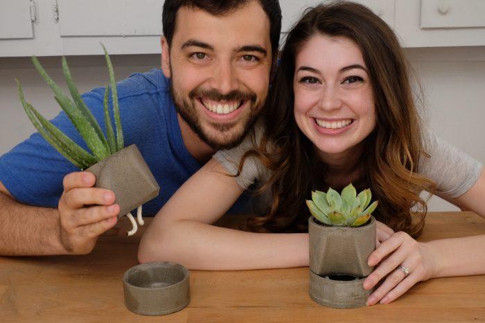 DIY Concrete Self Watering Planter